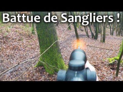 Chasse au Sanglier en battue: Les compagnies à mon poste ! Chasse HD
